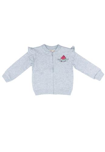 FOX Kids & Baby grey Patch Cardigan 3DDDBKAD9EC7B9GS_1