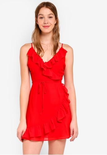 Glamorous red Ruffled Dress 03C01AA2A7095EGS_1
