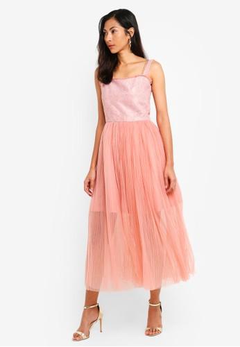 Megane pink Red Romance Evonna Tulle Dress 93F2CAA9C6BFEBGS_1