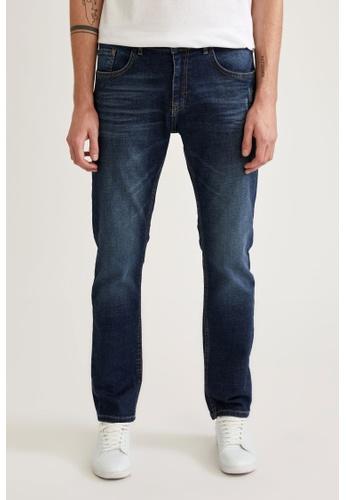 DeFacto blue Man Denim Wall Trouser D040AAA281E391GS_1