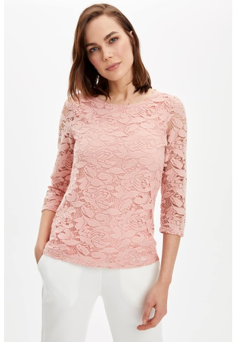 DeFacto pink Woman Knitted Long Sleeve T-Shirt 62613AA2045434GS_1