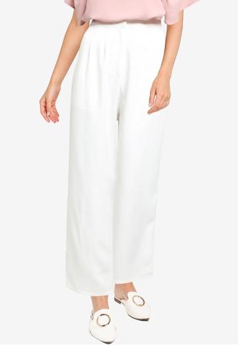 ZALORA WORK white Pleated Tailored Trousers 30970AA7F57F59GS_1