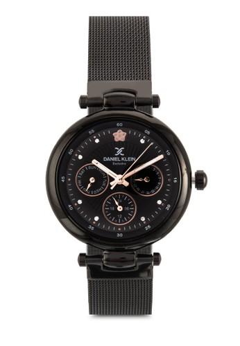 35mm zalora是哪裡的牌子DK11037-5 不銹鋼拼接網格圓錶, 錶類, 飾品配件