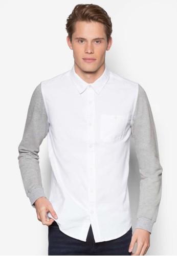 拼色長袖襯衫,esprit home 台灣 服飾, 素色襯衫