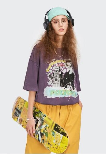 Twenty Eight Shoes Trend Printed Short T-shirt 1528S21 E1B03AAE79E3CEGS_1