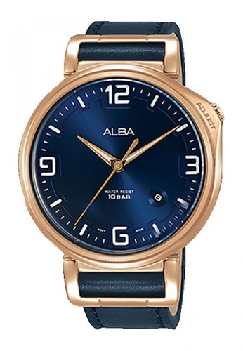 Alba blue Jam Tangan Pria Alba Original Garansi Resmi AS9F92 AS9F92X1 Strap Dark Blue Leather Dark Blue Dial D092EAC346D215GS_1