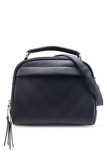 Bagstationz black Bagstationz Quilted Convertible Satchel With Top Handle BA607AC86KJDMY_1