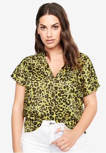 a0a7a3c56be7 Violeta by MANGO yellow Plus Size Leopard Print Blouse DD8C9AAC737B87GS_1