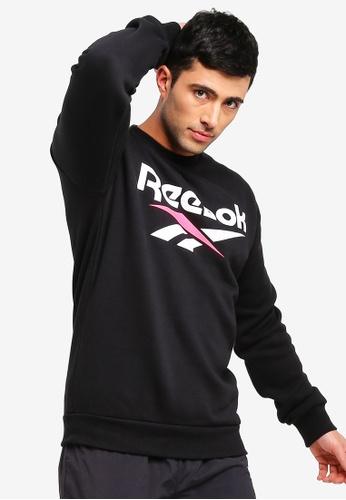 Reebok 黑色 Vector Crewneck 經典T恤 CFCD3AA564915BGS_1
