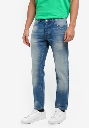 United Colors of Benetton 藍色 刷色修身牛仔褲 C3BECAA57A750EGS_1