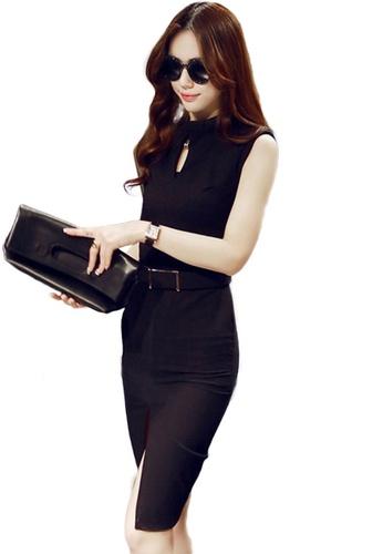 Sunnydaysweety black Korean Style Hollow Slim-Fit Hip One Piece Dress A21022227BK 4EBE1AABA6727AGS_1