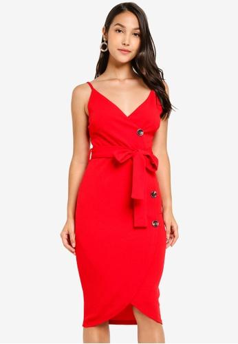 AX Paris red Button Front Detail Dress F7447AAB7B2B09GS_1