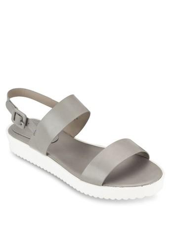 厚底繞踝平底涼zalora 順豐鞋, 女鞋, 涼鞋