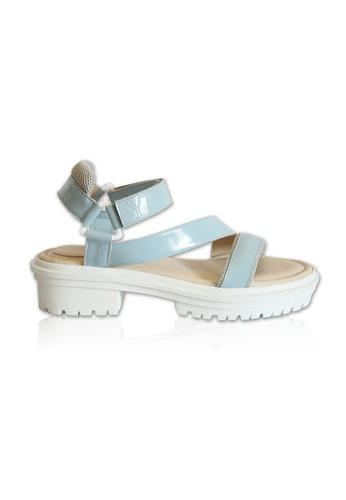 Yoke & Theam blue Ivy Sandal 1B82DSH2B355ADGS_1