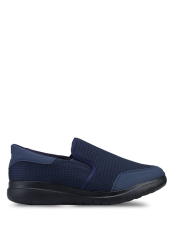 UniqTee 藍色 Lightweight Slip-On Sport Sneakers D031ASH8256E16GS_1