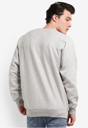 Calvin Klein grey Holo Oversized Crew Neck Sweatshirt - Calvin Klein Jeans CA221AA0RN5HMY_1