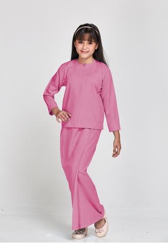 MOTHER & CHILD pink Qasimah Kurung Kedah Pesak KIDS 14A2FKA8CC292CGS_1