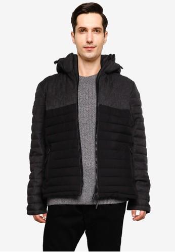 Superdry grey Tweed Mix Fuji Jacket 21618AA4FA68EBGS_1