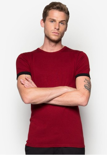 Fully Fashioned Tee With Raw Sleeves