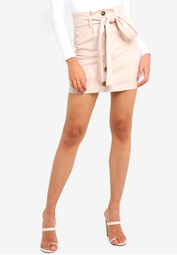 377108656 Buy MISSGUIDED Faux Suede Paperbag Waist Mini Skirt Online on ZALORA  Singapore