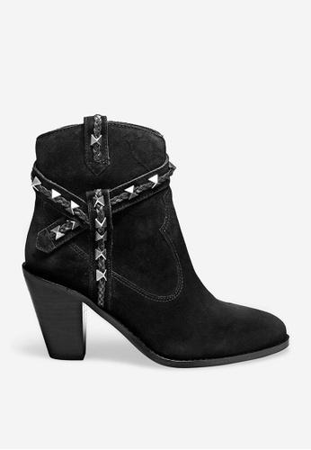 ASH black Ilona - Black Rivets Embroidery Boots 7589BSH1E7F788GS_1
