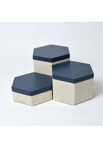 Grassroots blue Hexagonal Box (Large) D87BDHLD11A894GS_1