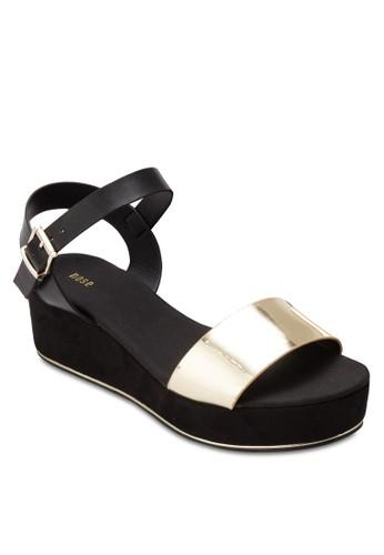 Chrome 金esprit台灣屬感一字帶厚底涼鞋, 女鞋, 鞋