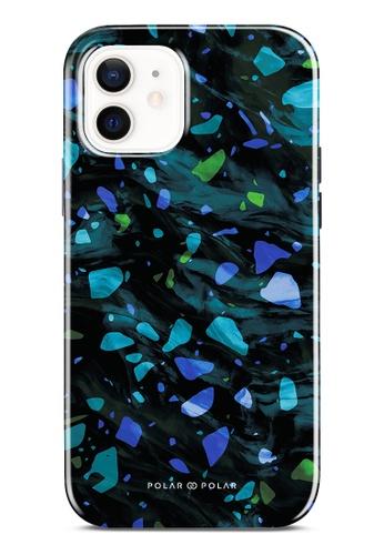 Polar Polar blue Ocean Terrazzo Gem Dual-Layer Tough Case Glossy For iPhone 12 7C2C5ACE12FBA6GS_1