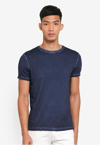 OVS blue Basic Faded T-Shirt FACBCAAE6148E8GS_1