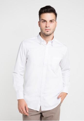 GQ MEN'S WEAR white Regular Fit Long Sleeve Shirt GQ410AA0V5FYID_1