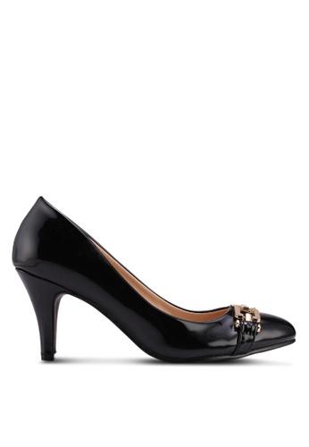 Carlton London black Mid Heels With Bow Detail B85C3SH0357240GS_1