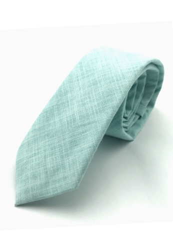Caveman green Mint Textured Necktie 56866AC50F7160GS_1