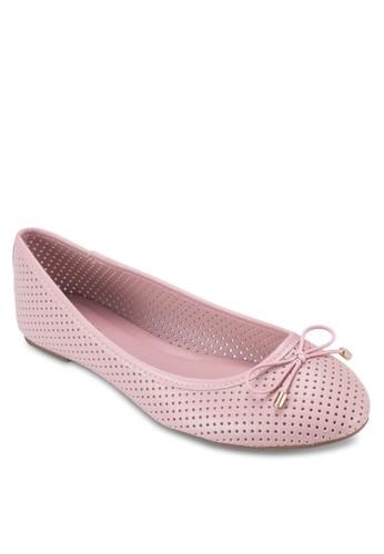 Dainty 蝴蝶結幾代沖孔平底鞋, esprit 尺寸女鞋, 鞋
