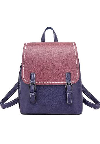 Twenty Eight Shoes purple VANSA Colour Matching Backpacks VBW-BpN0094L F9DA7AC12EBBDCGS_1