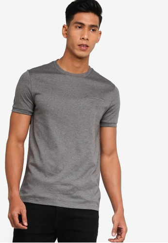 BOSS grey Tessler 80 T-Shirt - BOSS Men 24983AACFFF160GS_1