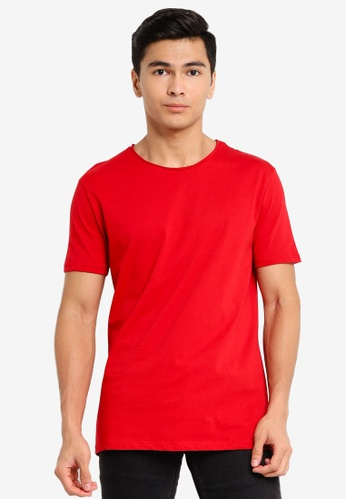 LC Waikiki red Crew Neck Short Sleeve Basic T-Shirt 8AD15AA4598ABEGS_1