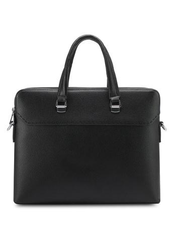 ZALORA black Double Zip Briefcase D04CDZZ3D6D2E0GS_1