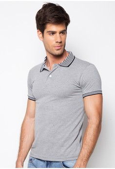 Newyork Army Men's Polo Shirt With Stripes Collar