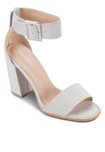 Marlo 仿麂皮扣環高跟鞋, 女鞋,zalora 心得 鞋