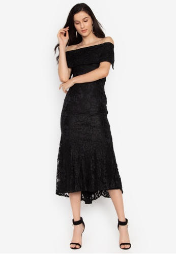 Ashley Collection black Off Shoulder Mermaid Hem Formal Maxi Dress  1C1DAAA2797182GS 1 dc7d28260