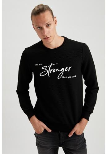 DeFacto black Man Knitted Sweat Shirt 763ADAAD91F77CGS_1