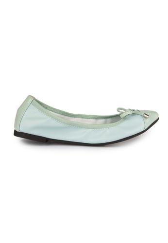 MAUD FRIZON blue Patent PU foldable ballerinas MA153SH56YEDHK_1