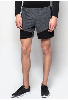 Shorts With Contrast Panel