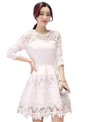 b2f3b0833559 Sunnydaysweety white Fashion Easy Match White Lace One-piece Dress CA032811  889C5AA354D592GS 1