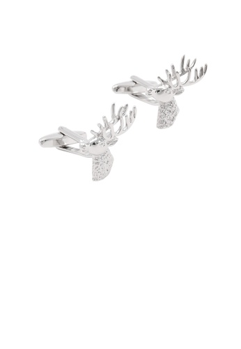 Glamorousky silver Fashion and Elegant Personality Elk Cufflinks ECDDBACFDF6ED1GS_1