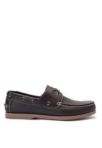 Brogue & Derby brown Damarion Boat Shoes BR611SH0IJBRPH_1