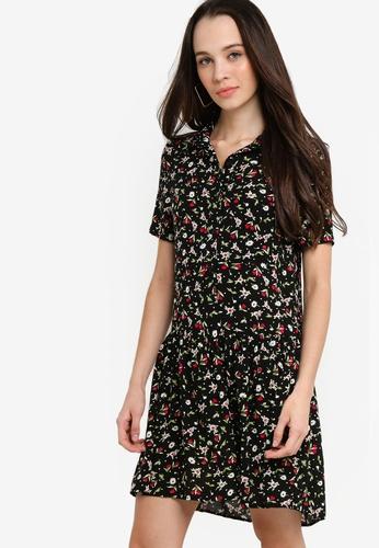 Something Borrowed 黑色 and 紅色 短袖襯衫洋裝 3309BAA5FC92EFGS_1