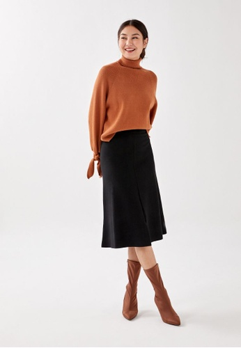 Love, Bonito black Valka Knit Midi Skirt E8ED5AA8C69764GS_1