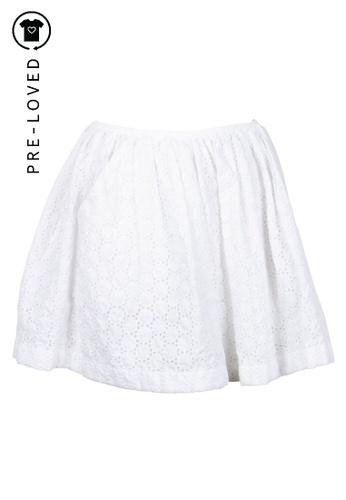 Miu Miu white Pre-Loved miu miu White Lace Skirt A2BF7AAD0036CCGS_1