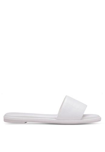 VINCCI white Croc Print Sandals VI831SH0S51AMY_1